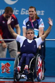 Anthony Peddle of Great Britain acknowledges the crowds applause after competing in his seventh Paralympics in the Men's 48kg Powerlifting on day 1...
