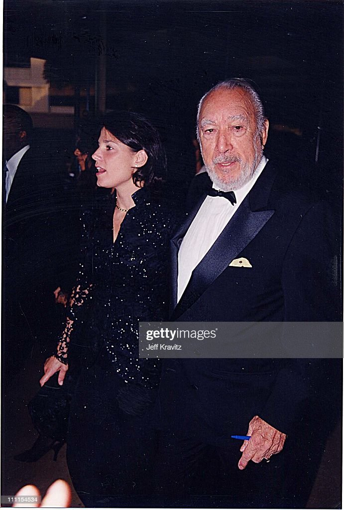 Anthony Quinn & his wife Kathy Benvin during Achievement Awards '98 in Beverly Hills, California, United States.