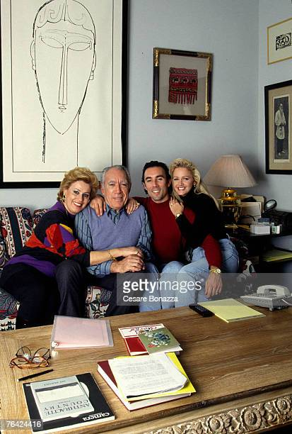 Anthony Quinn wife Iolanda son Francesco Quinn wife Julie Private Residence Anthony Quinn Self Assignment June 15 1998