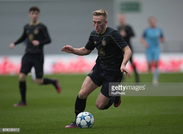 Anthony Ralston of Celtic Under 19s during U19 UEFA Youth League match between Manchester City Under 19s against Celtic Under 19s at Academy Stadium...