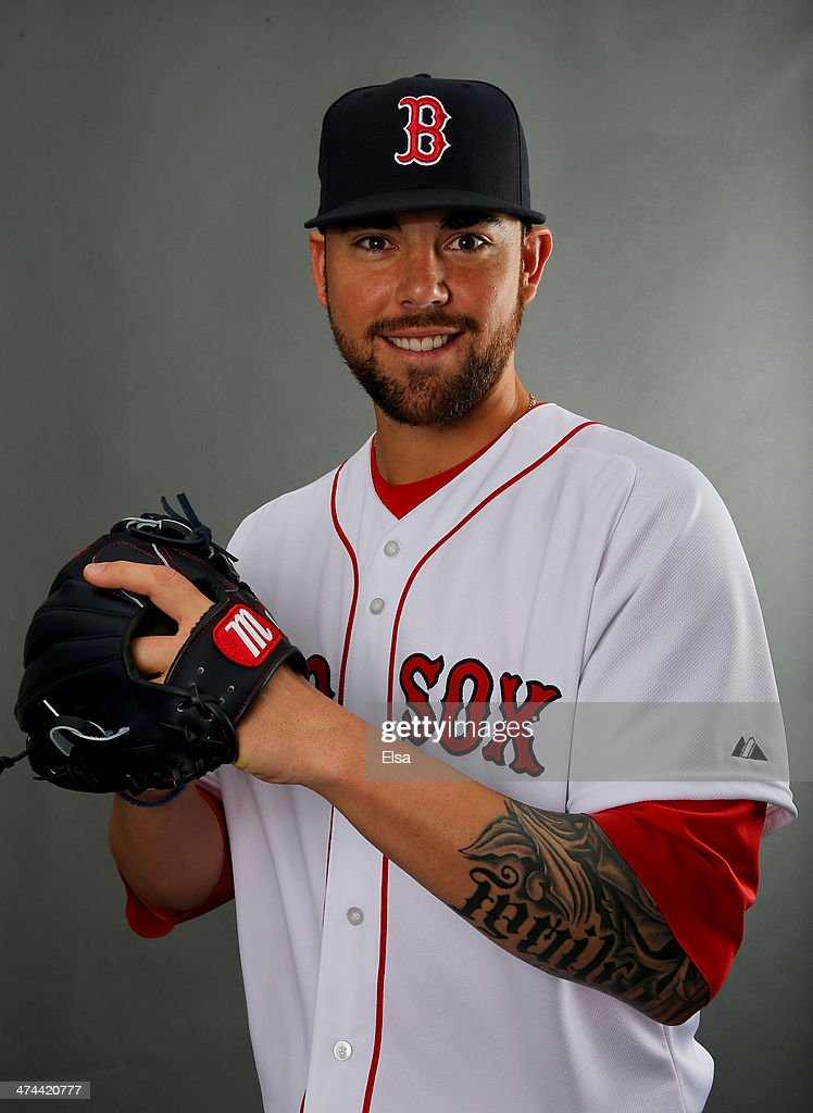 Anthony Ranaudo #63 of the Boston Red Sox poses for a portrait during Boston Red Sox Photo Day on February 23, 2014 at JetBlue Park in Fort Myers, Florida.