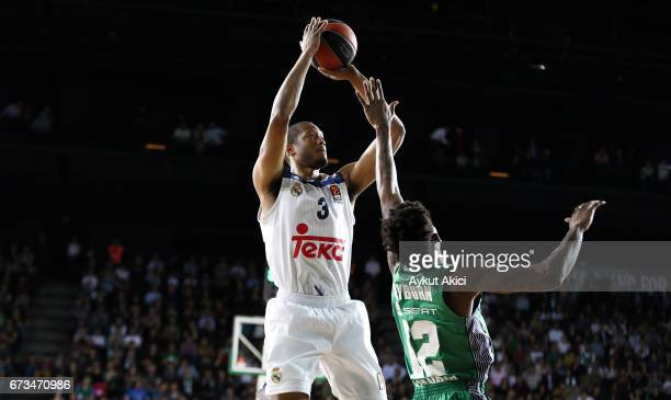 Anthony Randolph #3 of Real Madrid in action during the 2016/2017 Turkish Airlines EuroLeague Playoffs leg 3 game between Darussafaka Dogus Istanbul...