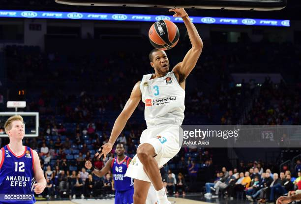 Anthony Randolph #3 of Real Madrid in action during the 2017/2018 Turkish Airlines EuroLeague Regular Season Round 1 game between Anadolu Efes...