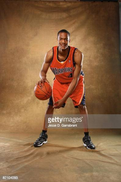 Anthony Randolph of the Golden State Warriors poses for a portrait during the 2008 NBA Rookie Photo Shoot on July 29 2008 at the MSG Training...