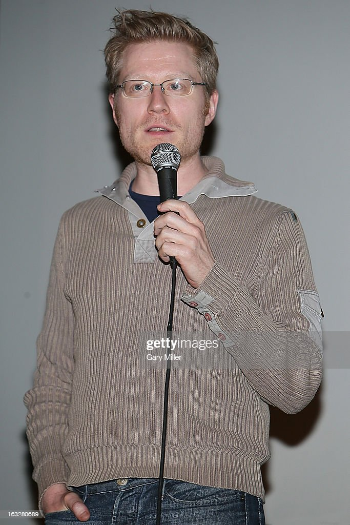 <a gi-track='captionPersonalityLinkClicked' href=/galleries/search?phrase=Anthony+Rapp&family=editorial&specificpeople=584008 ng-click='$event.stopPropagation()'>Anthony Rapp</a> speaks during a Q&A for the 20th anniversary screening of 'Dazed & Confused' at Marchesa Hall & Theater on March 6, 2013 in Austin, Texas.