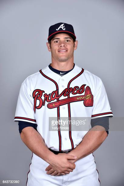 Anthony Recker of the Atlanta Braves poses during Photo Day on Tuesday February 21 2017 at Champion Stadium in Lake Buena Vista Florida