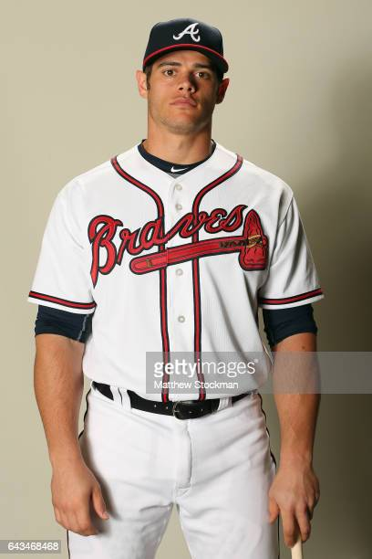 Anthony Recker poses for a portrait during Atlanta Braves Photo Day at Champion Stadium on February 21 2017 in Lake Buena Vista Florida