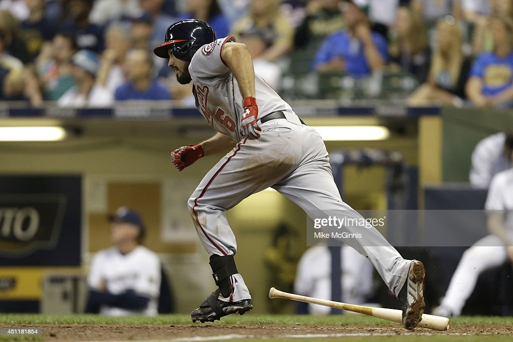 Anthony Rendon #6 of the Washington Nationals runs the bases after hitting a solo home run in the top of the eighth inning against the Milwaukee Brewers at Miller Park on June 24, 2014 in Milwaukee, Wisconsin.