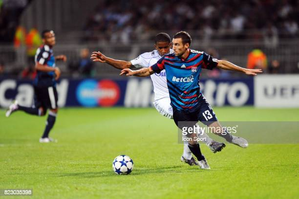 FARFAN / Anthony REVEILLERE Lyon / Schalke 04 1er journee de Ligue des Champions