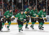 Anthony Richard of the Val'Dor Foreurs scores against the Edmonton Oil Kings in Game Five of the 2014 MasterCard Memorial Cup at Budweiser Gardens on...