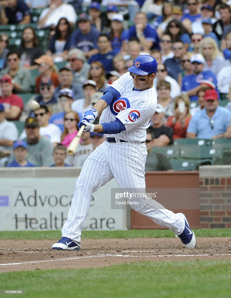 <a gi-track='captionPersonalityLinkClicked' href=/galleries/search?phrase=Anthony+Rizzo&family=editorial&specificpeople=7551494 ng-click='$event.stopPropagation()'>Anthony Rizzo</a> #44 of the Chicago Cubs hits a grand slam home run against the Pittsburgh Pirates in the sixth inning on September 16, 2012 at Wrigley Field in Chicago, Illinois.