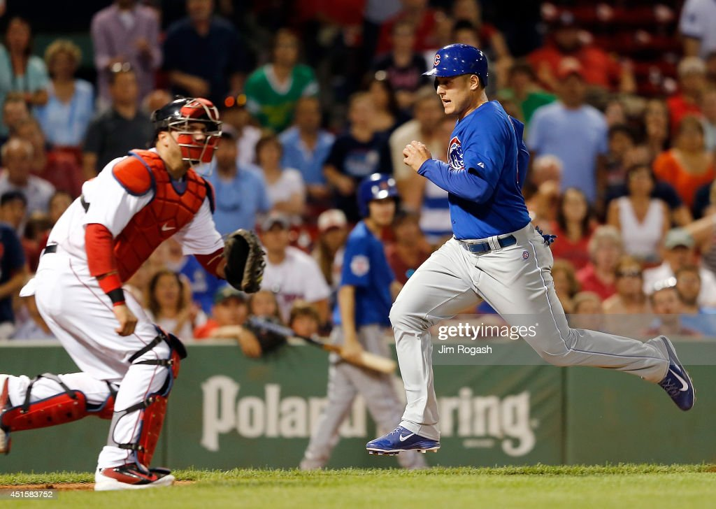 <a gi-track='captionPersonalityLinkClicked' href=/galleries/search?phrase=Anthony+Rizzo&family=editorial&specificpeople=7551494 ng-click='$event.stopPropagation()'>Anthony Rizzo</a> #44 of the Chicago Cubs reacts as he scores the go-ahead run in the 9th inning against the Boston Red Sox at Fenway Park on July 1, 2014 in Boston, Massachusetts.