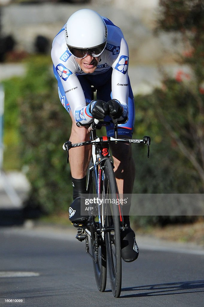 Anthony Roux of France rides during the fifth stage of the 43rd edition of the Etoile de Besseges cycling race on February 3, 2013 in Ales, southern France.