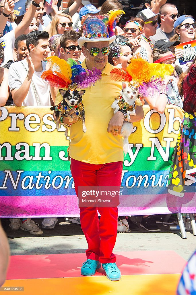 Anthony Rubio attends the 2016 Pride March on June 26, 2016 in New York City.