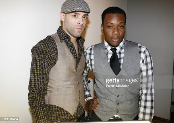 Anthony Sanchez and Darrell Manor attend The LearnVest Launch Party at The Limited PopUp Store on December 2 2009 in New York