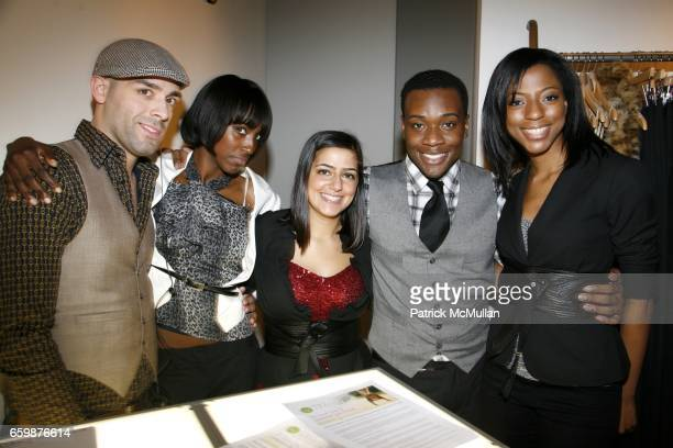 Anthony Sanchez Lanette Brannon Simone Capparelli Darrell Manor and Denise McKnight attend The LearnVest Launch Party at The Limited PopUp Store on...