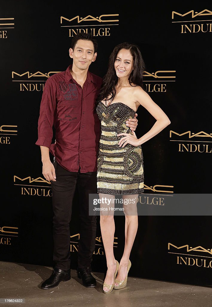Anthony Sandstrom and Jocelyn Luko attend the 'Dazzling M.A.C Indulge Event' to launch their Fall 2013 luxury line of cosmetics on August 16, 2013 in Hong Kong, Hong Kong.