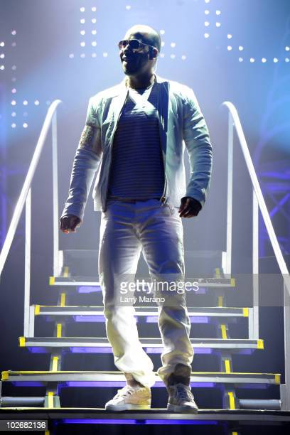 Anthony Santos of Aventura performs at Hard Rock Live in the Seminole Hard Rock Hotel Casino on July 6 2010 in Hollywood Florida
