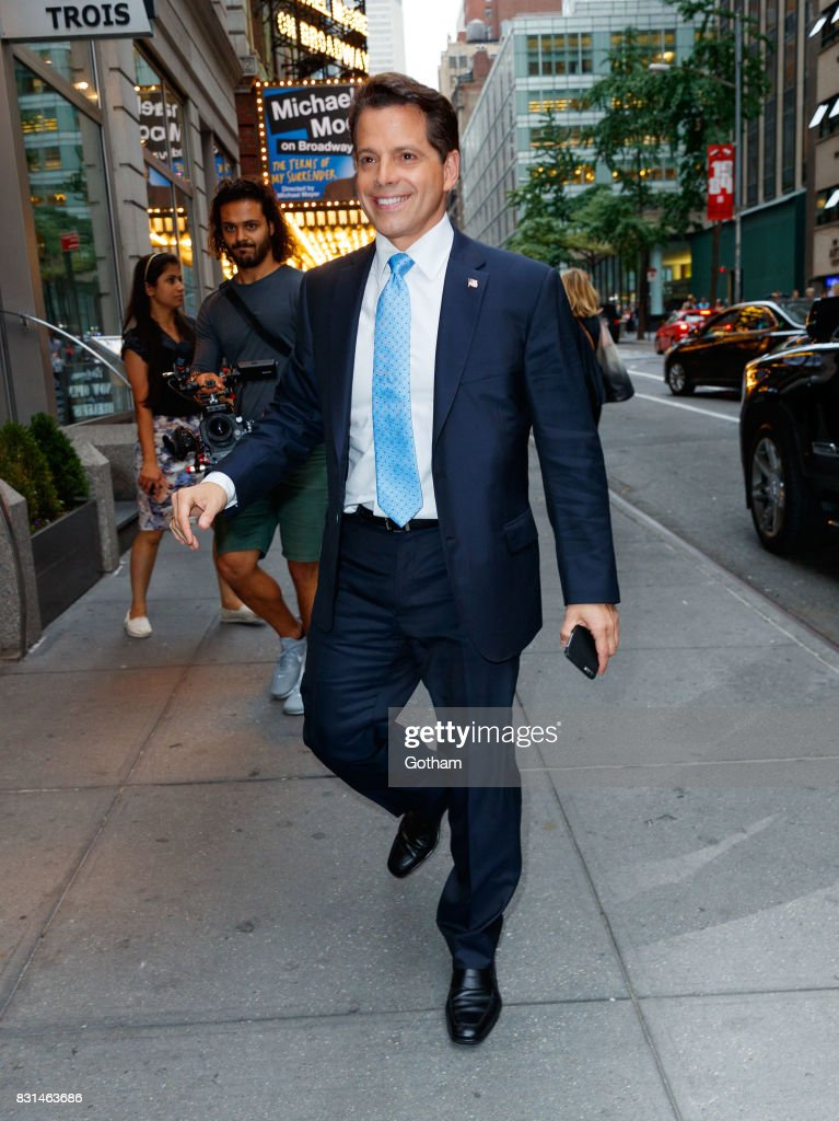 Anthony Scaramucci is seen on August 13, 2017 in New York City.