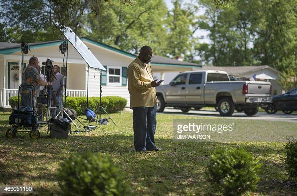Anthony Scott brother of Walter Scott the 50yearold man who was fired at eight times as he ran away from an officer after a traffic stop checks his...