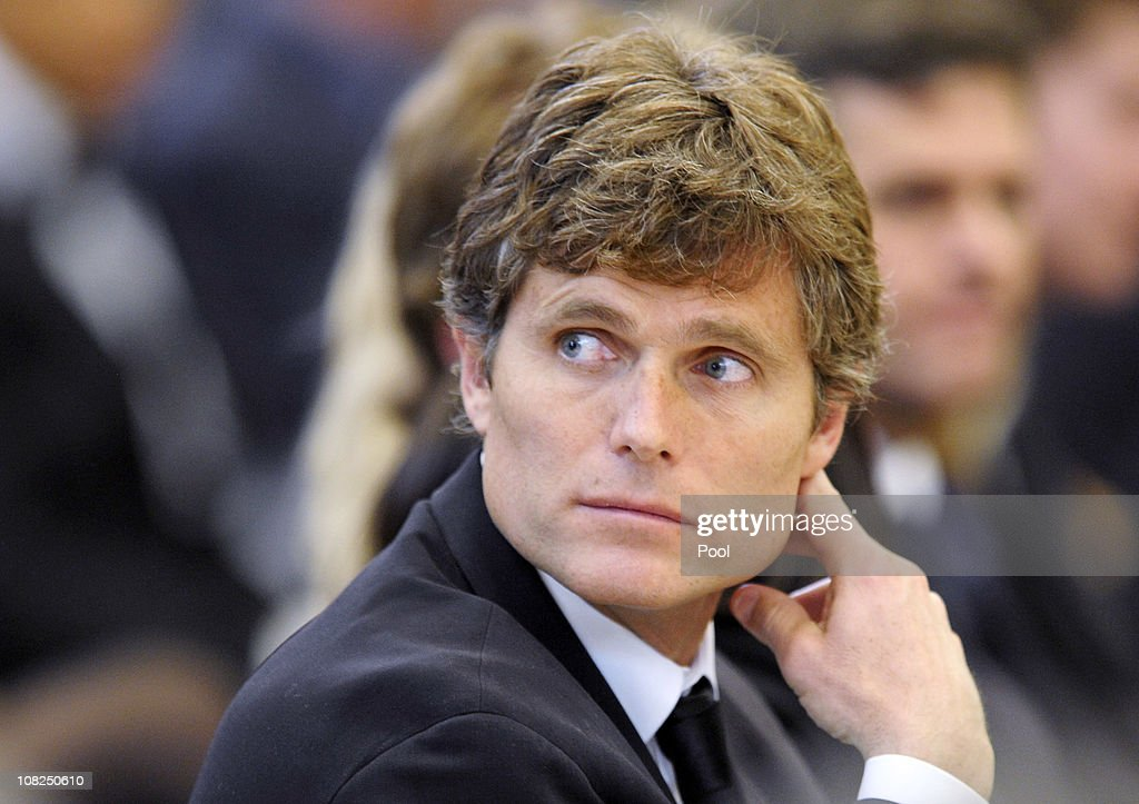 <a gi-track='captionPersonalityLinkClicked' href=/galleries/search?phrase=Anthony+Shriver&family=editorial&specificpeople=727552 ng-click='$event.stopPropagation()'>Anthony Shriver</a> participates in the funeral mass for his father Sargent Shriver at Our Lady of Mercy Catholic Church January 22, 2011 in Potomac, Maryland. Robert Sargent Shriver Jr., a politician and activist who was the first leader of the Peace Corps and was involved in other social programs, died this week at the age of 95.