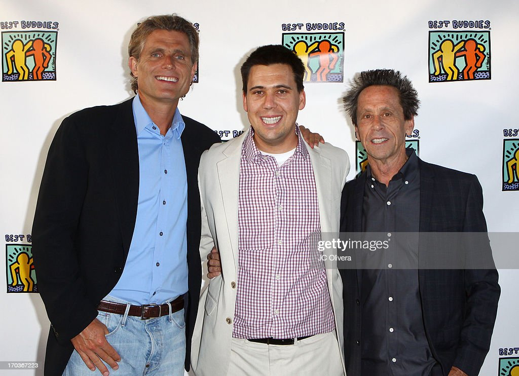 Anthony Shriver, Riley Grazer and Brian Grazer attend Best Buddies Jobs Vanguard reception at UTA on June 11, 2013 in Beverly Hills, California.