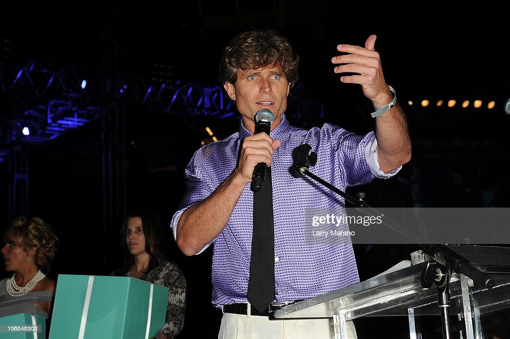 <a gi-track='captionPersonalityLinkClicked' href=/galleries/search?phrase=Anthony+Shriver&family=editorial&specificpeople=727552 ng-click='$event.stopPropagation()'>Anthony Shriver</a> speaks onstage at the Best Buddies Bash Featuring Far East Movement and SkyBlu of LMFAO at Marlins Park on November 16, 2012 in Miami, Florida.