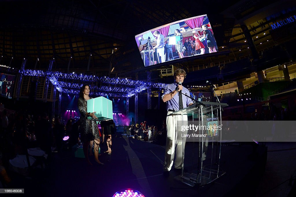 <a gi-track='captionPersonalityLinkClicked' href=/galleries/search?phrase=Anthony+Shriver&family=editorial&specificpeople=727552 ng-click='$event.stopPropagation()'>Anthony Shriver</a> speaks onstage at the Zenith Watches Best Buddies Miami Gala at Marlins Park on November 16, 2012 in Miami, Florida.