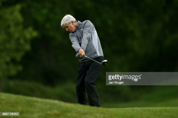 Anthony Sproston of AE Golf Academy in action during the final round of the Silversea Senior PGA Professional Championship at Foxhills Golf Course on...