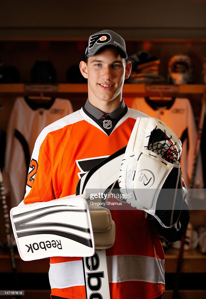 Anthony Stolarz, 45th overall pick by the Philadelphia Flyers, poses for a portrait during the 2012 NHL Entry Draft at Consol Energy Center on June 23, 2012 in Pittsburgh, Pennsylvania.