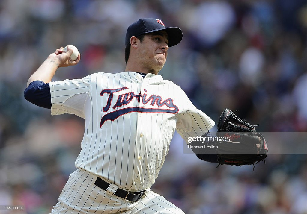 <a gi-track='captionPersonalityLinkClicked' href=/galleries/search?phrase=Anthony+Swarzak&family=editorial&specificpeople=5758737 ng-click='$event.stopPropagation()'>Anthony Swarzak</a> #51 of the Minnesota Twins delivers a pitch against the San Diego Padres during the tenth inning of the game on August 6, 2014 at Target Field in Minneapolis, Minnesota. The Padres defeated the Twins 5-4 in ten innings.