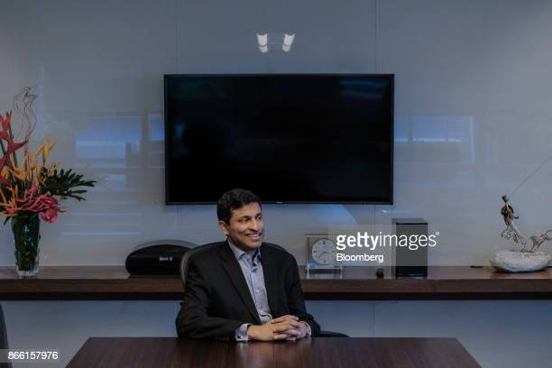 Anthony Thomas president and chief executive officer of Globe Fintech Innovations Inc known as Mynt a unit of Globe Telecom Inc poses for a...
