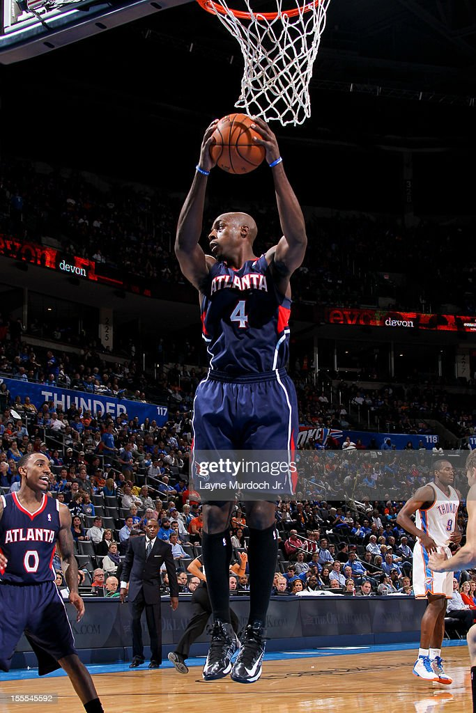 <a gi-track='captionPersonalityLinkClicked' href=/galleries/search?phrase=Anthony+Tolliver&family=editorial&specificpeople=4195496 ng-click='$event.stopPropagation()'>Anthony Tolliver</a> #4 of the Atlanta Hawks grabs a rebound against the Oklahoma City Thunder on November 4, 2012 at the Chesapeake Energy Arena in Oklahoma City, Oklahoma.