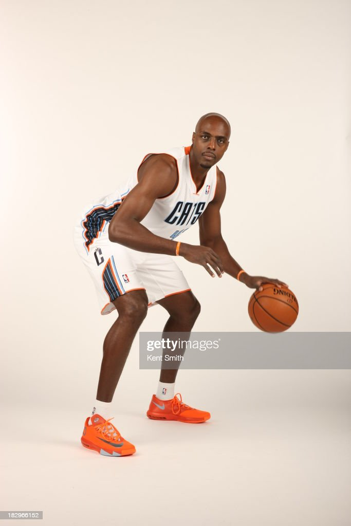 Anthony Tolliver of the Charlotte Bobcats poses for a portrait on media day at the Time Warner Cable Arena on September 30 2013 in Charlotte North...