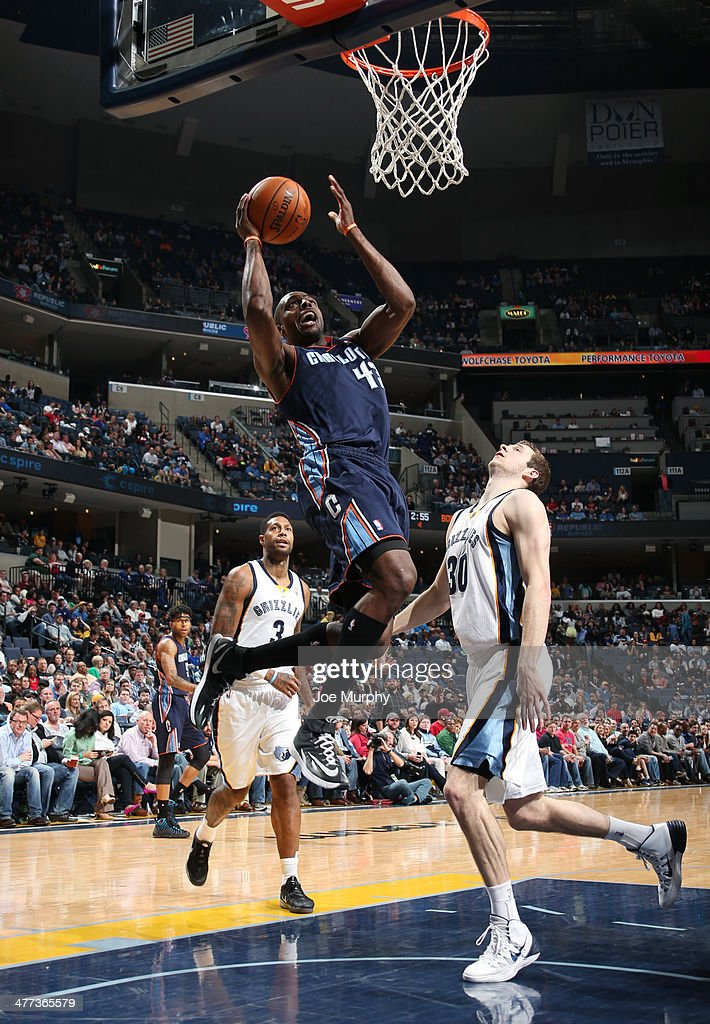 Anthony Tolliver of the Charlotte Bobcats shoots against the Memphis Grizzlies on March 8 2014 at FedExForum in Memphis Tennessee NOTE TO USER User...