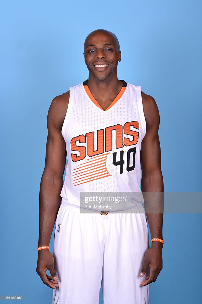 Anthony Tolliver of the Phoenix Suns poses for a photo at Phoenix Suns Media Day on September 29 2014 at US Airways Center in Phoenix Arizona NOTE TO...