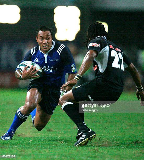 Anthony Tuitavake takes part in the Super 14 match between Sharks and Blues held at Absa Park Stadium on March 8 2008 in Durban South Africa