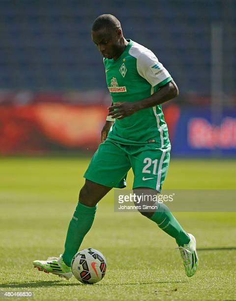 Anthony Ujah of Bremen in action during the preseason semi final 1 match between FC Red Bull Salzburg and SV Werder Bremen as part of the Audi...