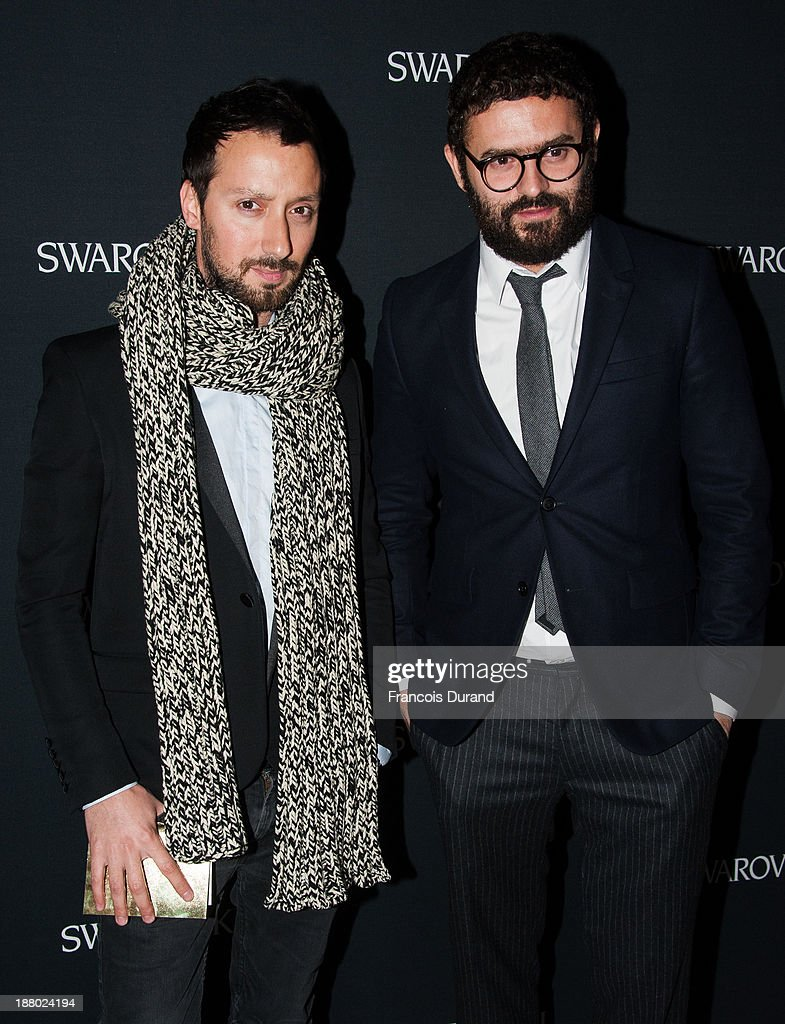 Anthony Vaccarello and guest attend the Swarovski Dinner In Honor of the Bouroullec Brothers at Chateau de Versailles on November 14, 2013 in Versailles, France.