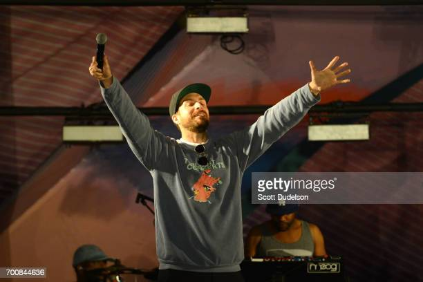 Anthony Valadez performs onstage during the Twilight Concert Series at Santa Monica Pier on June 22 2017 in Santa Monica California