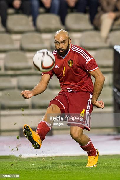 Anthony Vanden Borre of Belgium during the International friendly match between Belgium and Iceland on November 12 2014 at the Koning Boudewijn...