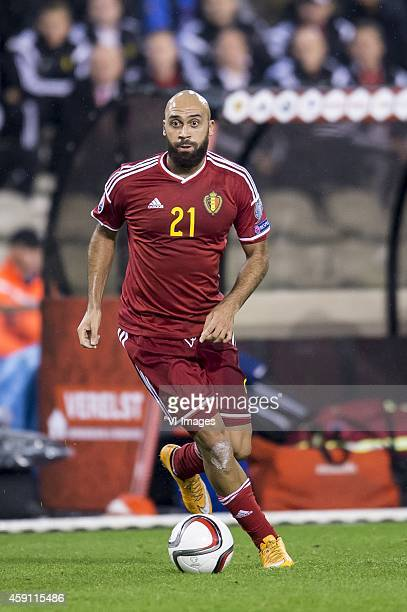 Anthony vanden Borre of Belgium during the International friendly match between Belgium and Wales on November 16 2014 at the Koning Boudewijn stadium...
