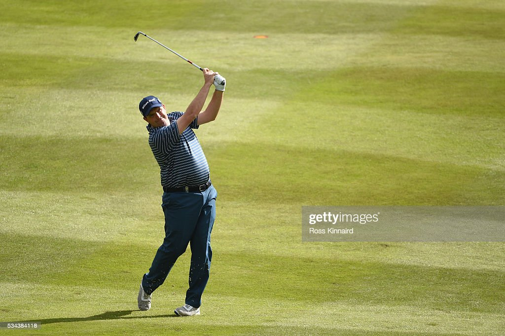 <a gi-track='captionPersonalityLinkClicked' href=/galleries/search?phrase=Anthony+Wall&family=editorial&specificpeople=243115 ng-click='$event.stopPropagation()'>Anthony Wall</a> of England hits his 2nd shot on the 7th hole during day one of the BMW PGA Championship at Wentworth on May 26, 2016 in Virginia Water, England.