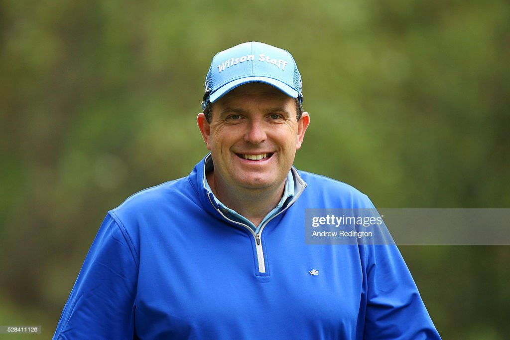 <a gi-track='captionPersonalityLinkClicked' href=/galleries/search?phrase=Anthony+Wall&family=editorial&specificpeople=243115 ng-click='$event.stopPropagation()'>Anthony Wall</a> of England reacts after his tee shot on the 11th during the first round of the Trophee Hassan II at Royal Golf Dar Es Salam on May 5, 2016 in Rabat, Morocco.