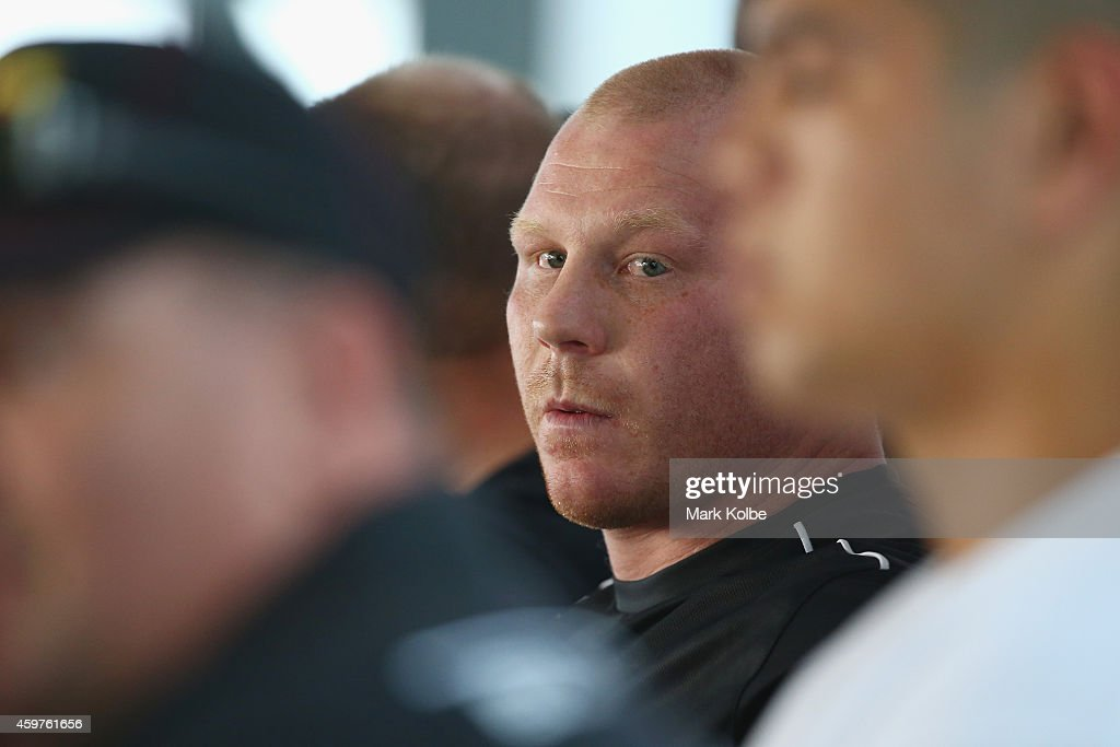Anthony Watts watches on during a press conference at the Hordern Pavilion on December 1, 2014 in Sydney, Australia.