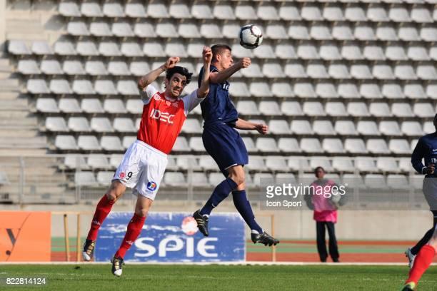 Anthony WEBER / Cedric FAURE Paris FC / Reims 32me journee de National Stade Charlety Paris