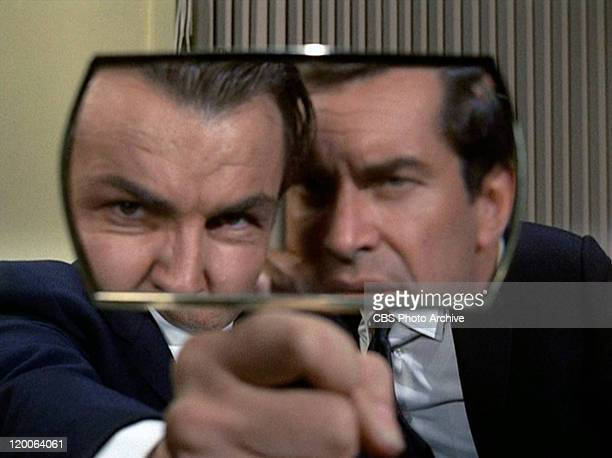 Anthony Zerbe as Colonel Helmut Kellerman and Martin Landau as Rollin Hand in the Mission Impossible episode 'Live Bait' Original airdate February 23...