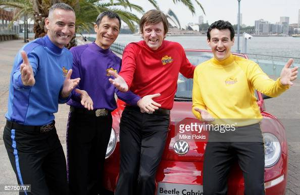 AnthonyJeff Murray and Sam of the popular Children's entertainment group The Wiggles pose for a photo at the launch of the new partnership between...