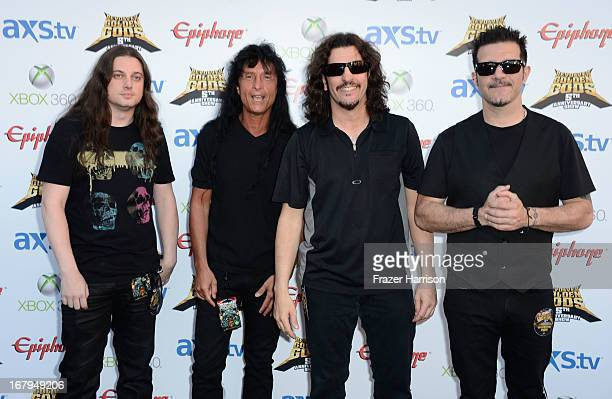 Anthrax arrives at the 5th Annual Revolver Golden Gods Award Show at Club Nokia on May 2 2013 in Los Angeles California