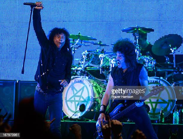 Anthrax perform at the 5th Annual Revolver Golden Gods Award Show at Club Nokia on May 2 2013 in Los Angeles California